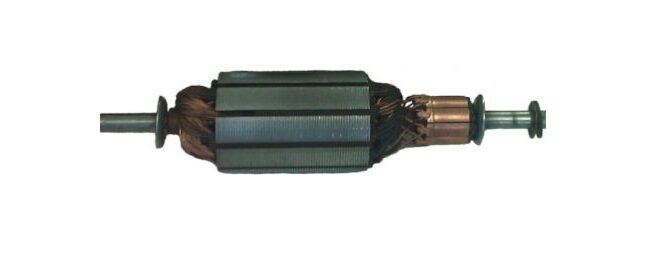 Elektromotor – Nähermotor – Nähmaschinenmotor hier im Bild der Rotor als Anker bezeichnet